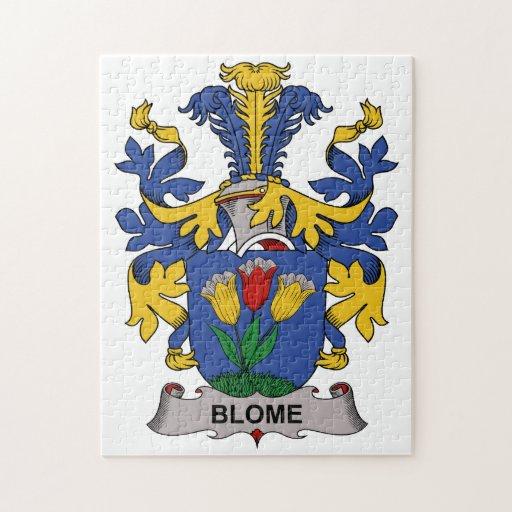 Escudo de la familia de Blome Rompecabeza Con Fotos