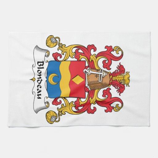 Escudo de la familia de Blondeau Toalla De Mano
