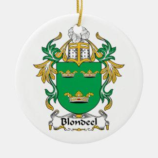 Escudo de la familia de Blondeel Adorno Redondo De Cerámica