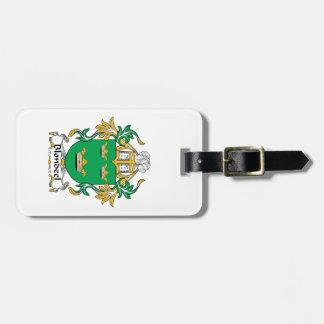 Escudo de la familia de Blondeel Etiqueta De Equipaje