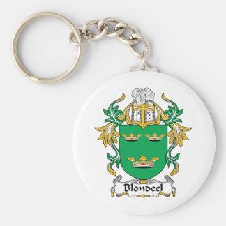 Escudo de la familia de Blondeel Llaveros Personalizados