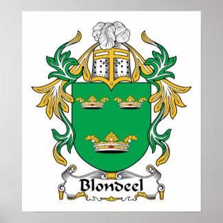Escudo de la familia de Blondeel Posters