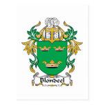 Escudo de la familia de Blondeel Postal
