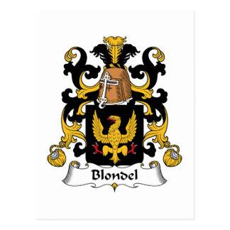 Escudo de la familia de Blondel Postal