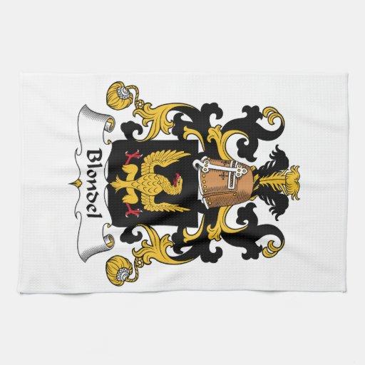 Escudo de la familia de Blondel Toallas