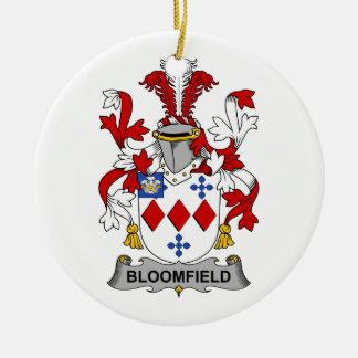 Escudo de la familia de Bloomfield Adorno Redondo De Cerámica