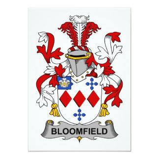 """Escudo de la familia de Bloomfield Invitación 5"""" X 7"""""""