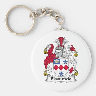 Escudo de la familia de Bloomfield Llaveros Personalizados