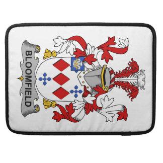 Escudo de la familia de Bloomfield Fundas Para Macbooks