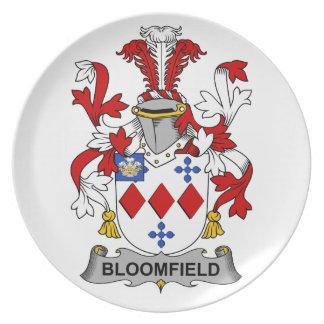 Escudo de la familia de Bloomfield Plato Para Fiesta
