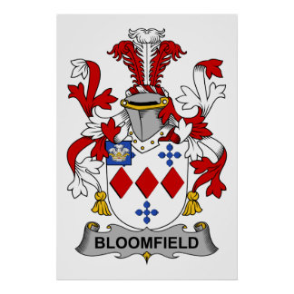 Escudo de la familia de Bloomfield Póster