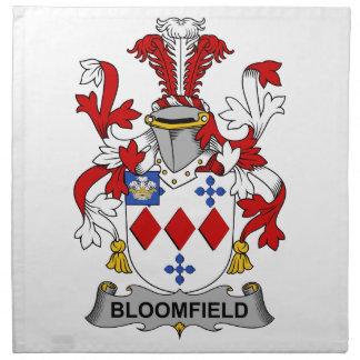 Escudo de la familia de Bloomfield Servilleta