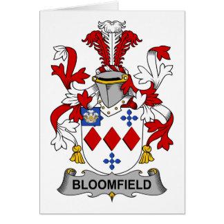 Escudo de la familia de Bloomfield Tarjeta De Felicitación