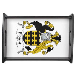 Escudo de la familia de Blount Bandejas