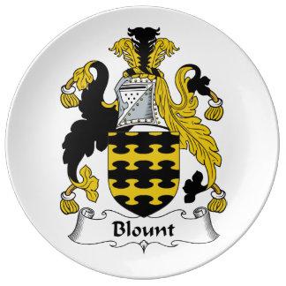 Escudo de la familia de Blount Platos De Cerámica