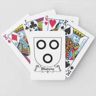 Escudo de la familia de Bludenz Baraja Cartas De Poker