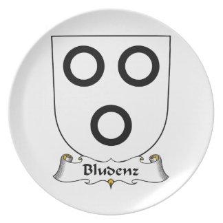 Escudo de la familia de Bludenz Plato De Cena