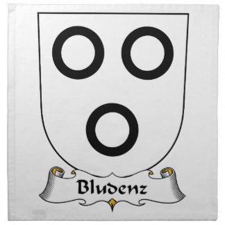 Escudo de la familia de Bludenz Servilletas Imprimidas