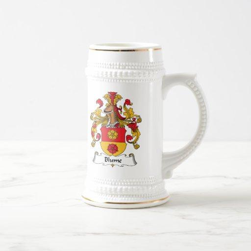 Escudo de la familia de Blume Jarra De Cerveza