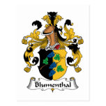 Escudo de la familia de Blumenthal Postales