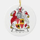 Escudo de la familia de Blunden Ornamento De Navidad