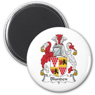 Escudo de la familia de Blunden Imán Redondo 5 Cm