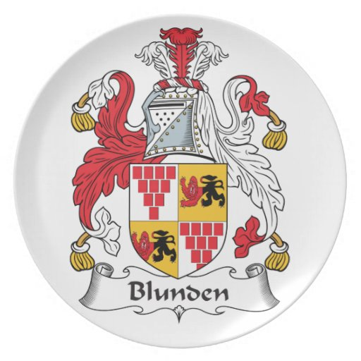 Escudo de la familia de Blunden Plato