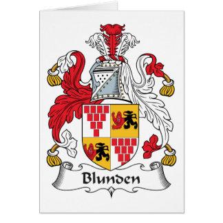 Escudo de la familia de Blunden Tarjeta De Felicitación