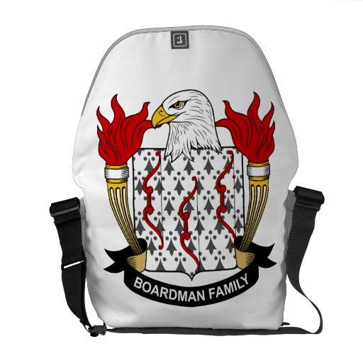 Escudo de la familia de Boardman Bolsa Messenger