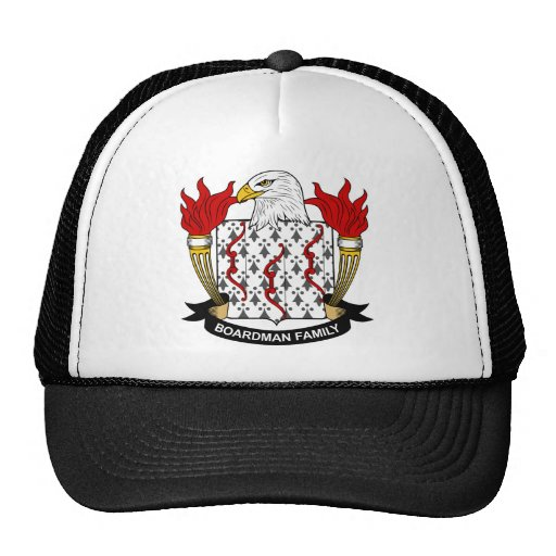 Escudo de la familia de Boardman Gorra