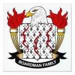 Escudo de la familia de Boardman Invitación Personalizada
