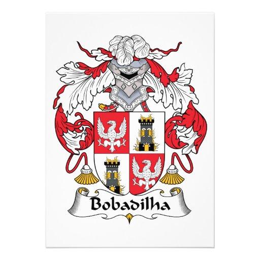 Escudo de la familia de Bobadilha Comunicado Personal