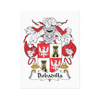 Escudo de la familia de Bobadilla Impresión En Lienzo