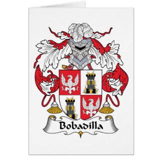 Escudo de la familia de Bobadilla Tarjeta De Felicitación
