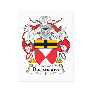 Escudo de la familia de Bocanegra Impresión En Lienzo