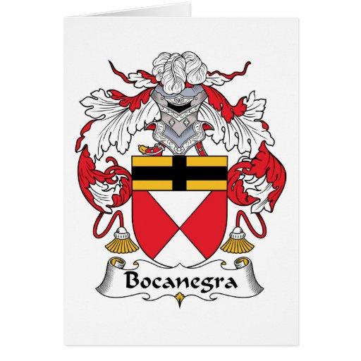 Escudo de la familia de Bocanegra Tarjetas