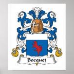 Escudo de la familia de Bocquet Impresiones
