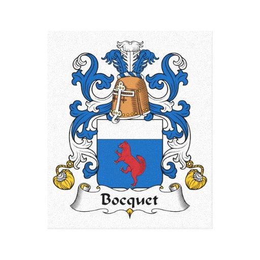 Escudo de la familia de Bocquet Lienzo Envuelto Para Galerías