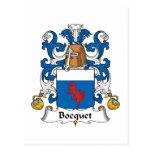 Escudo de la familia de Bocquet Postal