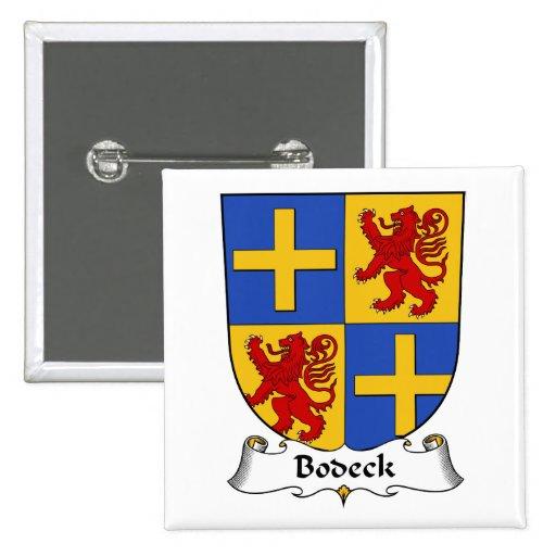 Escudo de la familia de Bodeck Pin Cuadrada 5 Cm