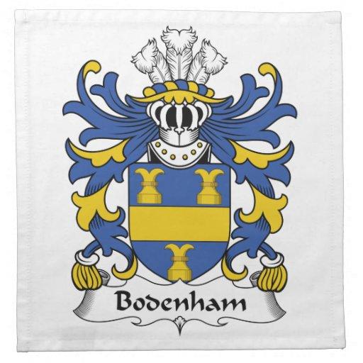 Escudo de la familia de Bodenham Servilletas