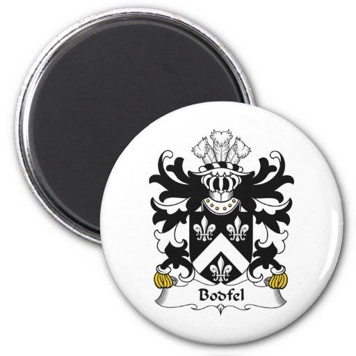 Escudo de la familia de Bodfel Imán Redondo 5 Cm