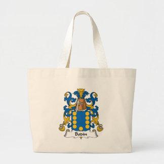 Escudo de la familia de Bodin Bolsas Lienzo
