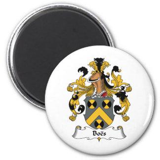 Escudo de la familia de Boes Imán Redondo 5 Cm