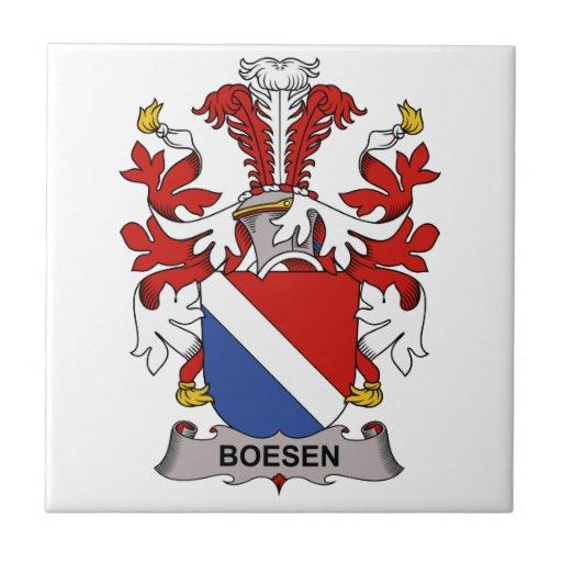 Escudo de la familia de Boesen Azulejos Cerámicos