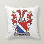 Escudo de la familia de Boesen Cojines