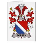 Escudo de la familia de Boesen Tarjeta