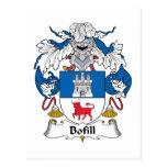 Escudo de la familia de Bofill Tarjeta Postal