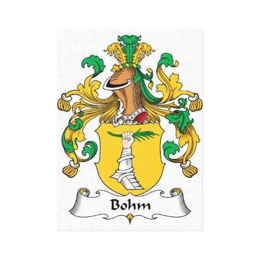 Escudo de la familia de Bohm Impresión De Lienzo