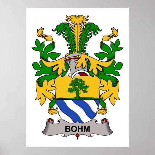 Escudo de la familia de Bohm Impresiones